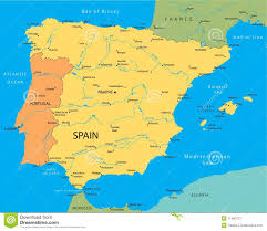 Map Of Spain by Vector Map Of Spain Stock Image Image 11400721