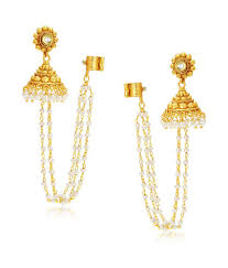 ear rings photos sukkhi golden alloy earrings buy sukkhi golden alloy earrings