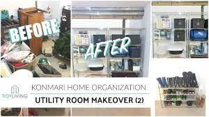 Room Storage by Konmari Home Organization Utility Room Storage Makeover Youtube