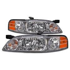 nissan altima headlights amazon com nissan altima halogen type headlights set headlamps