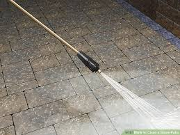 How To Clean A Concrete Patio by 3 Ways To Clean A Stone Patio Wikihow