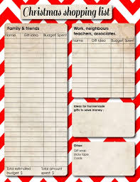 gift shopping list the 25 best christmas list printable ideas on