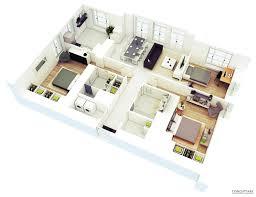 25 more 3 bedroom 3d floor plans 2 single level house small luxihome 25 more 2 bedroom 3d floor plans amazing architecture magazine house plans coupes 3d lyo 2