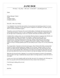 How To Write A Cover Letter For An Accounting Internship by U0026 Marketing Assistant Cover Letter