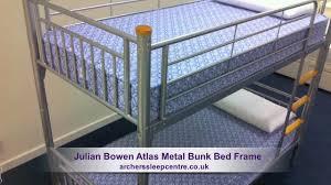 Metal Bunk Bed Frame Julian Bowen Atlas Metal Bunk Bed Frame Youtube