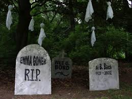 Homemade Grave Decorations Funny Graveyard Downloadable Halloween Tombstone Epitaphs Diy