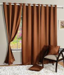 Single Blackout Curtain Homec Single Window Blackout Curtain Solid Black U0026brown Buy Homec