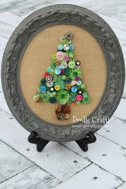 doodlecraft jeweled button christmas tree art