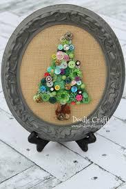 doodlecraft jeweled button christmas tree art
