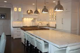 White Island Kitchen White Marble Kitchen Island Top Design Ideas
