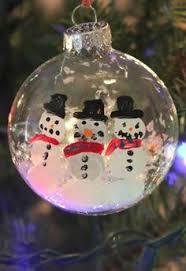 fingerprint snowman ornament tutorial family fingerprint