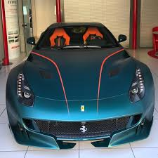 Ferrari F12 Orange - matte green ferrari f12 tdf with orange details could be the most