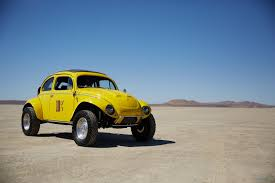 yellow baja bug electric power in the desert driving plugin magazine com