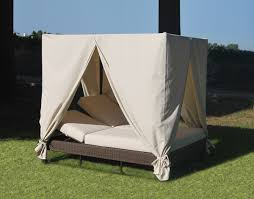 furniture comfortable outdoor daybed with canopy and white