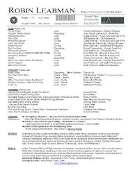 musical theater resume template word sidemcicek com