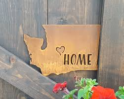 home state sign metal signs rustic home decor rustic signs