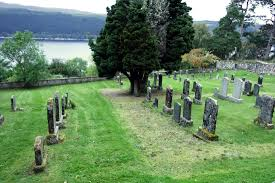 on the shores of loch ness boleskine cemetery rainbow roadtrip
