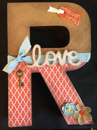 custom paper mache cardboard monogram letters design your own