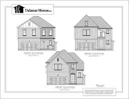 elevation and floor plan of a house the brazil home plans dalamar homes