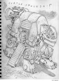 tmnt artist jim lawson sketches alien ninja turtles