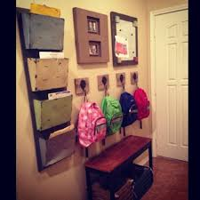entryway backpack storage school wall for kids shoes backpacks papers magnet board for good