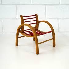 chaise vintage enfant baumann fauteuil enfant 1950 la marelle mobilier vintage pour