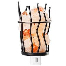 himalayan salt l basket mockins himalayan salt night basket and iron stand