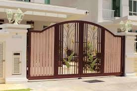 interior spacious house front gate design with beautiful