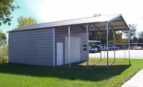 Build A Two Car Garage Steel Garage Carport Combo One Two Or Three Car Metal Garage