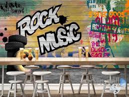 music wall decor 3d graffiti board rock music wall mural paper art print decals