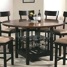 counter height table with storage round counter height table butterfly leaf counter height table w
