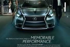lifted lexus sedan lexus pursues hipper crowd with new ads for its ls sedan