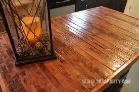Repurposed Dresser Kitchen Island - reclaimed dresser into kitchen island with pallet countertop