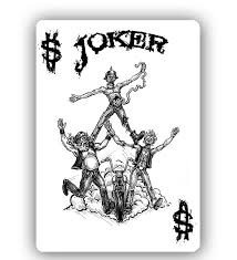 Joker Playing Card Designs Zombies Motorcycles And Poker Zombie Riders Playing Cards By