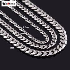 titanium curb chain necklace images Never fade 3 6mm 5mm 7mm stainless steel cuban chain necklace jpg