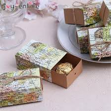 How To Make Decorative Gift Boxes At Home Enlife 20pcs Diy Wedding Map Favor Box Traveling Theme Wedding