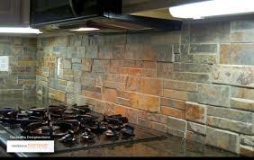 faux stone backsplash ideas 11random glass tile mosaic fake