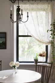 Kitchen Curtains Sets Interior Heather Embroidered Voile Kitchen Curtains Black And