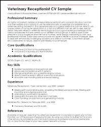 veterinary receptionist sample resume resume receptionist u2013 foodcity me