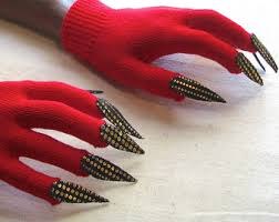 Halloween Costume Gloves Claw Gloves Etsy
