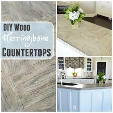 wood countertops kitchen diy herringbone wood countertops the rozy home