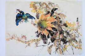 lian quan zhen watercolor work east meets the west chinese painting spontaneous watercolor
