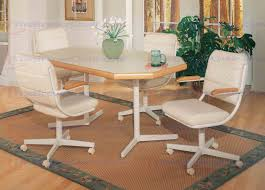 chromcraft table and chairs furniture 5 piece dining set t130 488 table with c318 788 caster chair