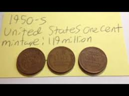 penny s 1950 s united states one cent wheat penny youtube