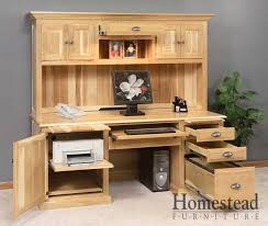 Amish Made Computer Desks Custom Built Hardwood Furniture By Homestead Furniture Made In Usa