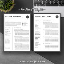2 page resume template professional resume template bundle cv bundle 3 page