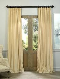 Yellow Faux Silk Curtains Faux Silk Curtains Teawing Co