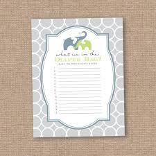 what s in the bag baby shower 37 best baby shower turquoise lime grey chevron elephants