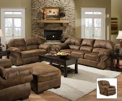 Tobacco Finish Microfiber Living Room Sofa And Loveseat Set - Microfiber living room sets