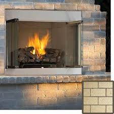 Vent Free Lp Gas Fireplace by 42 U0027 U0027 Fmi Alpine Outdoor Vent Free Propane Fireplace With White